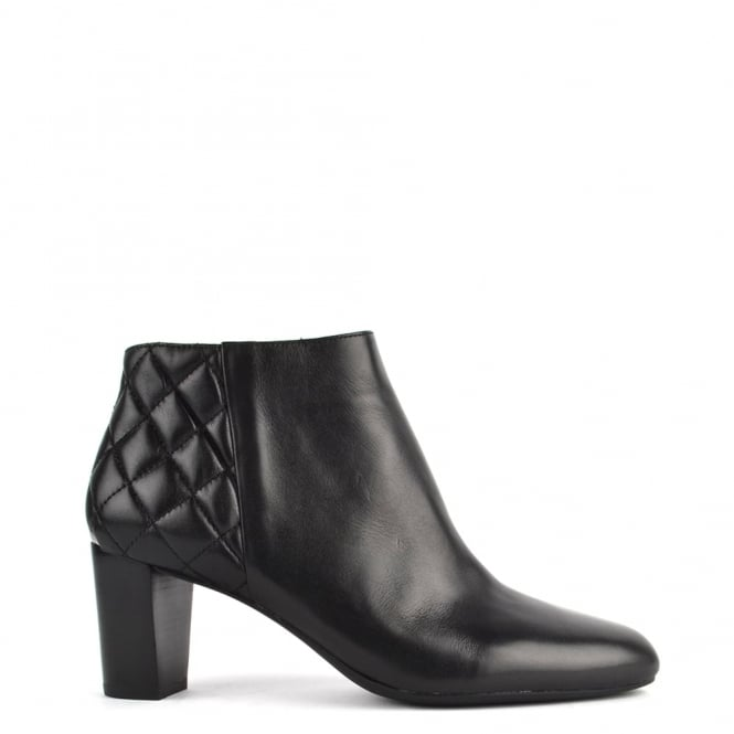 MICHAEL by Michael Kors Lucy Black Leather Ankle Boot