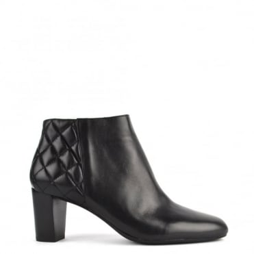 Lucy Black Leather Ankle Boot