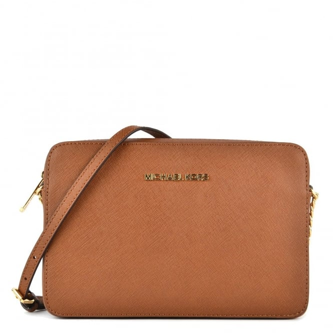 MICHAEL by Michael Kors Luggage 'Tan' Saffiano Leather Large Crossbody Bag