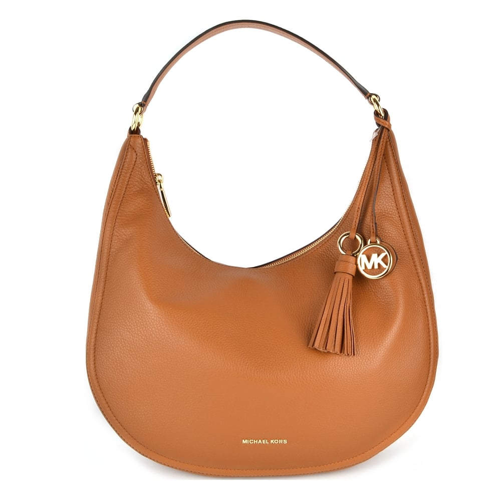 3183d11d5705a MICHAEL by Michael Kors Lydia Acorn Leather Large Hobo Bag
