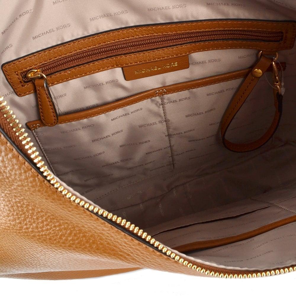 bf7a6e4c3e894 MICHAEL MICHAEL KORS Lydia Acorn Leather Large Hobo Bag