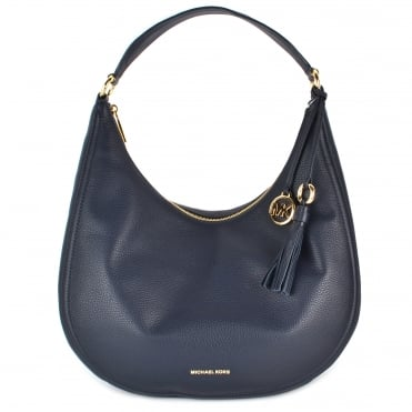 Lydia Admiral 'Navy' Leather Large Hobo Bag