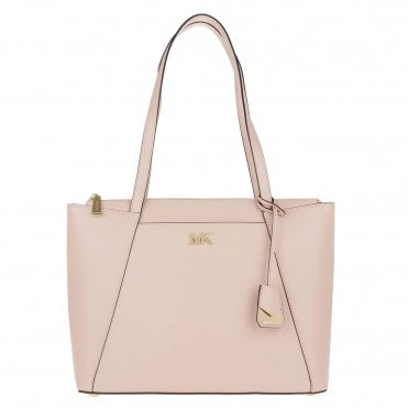 Maddie Soft Pink Leather Medium Tote