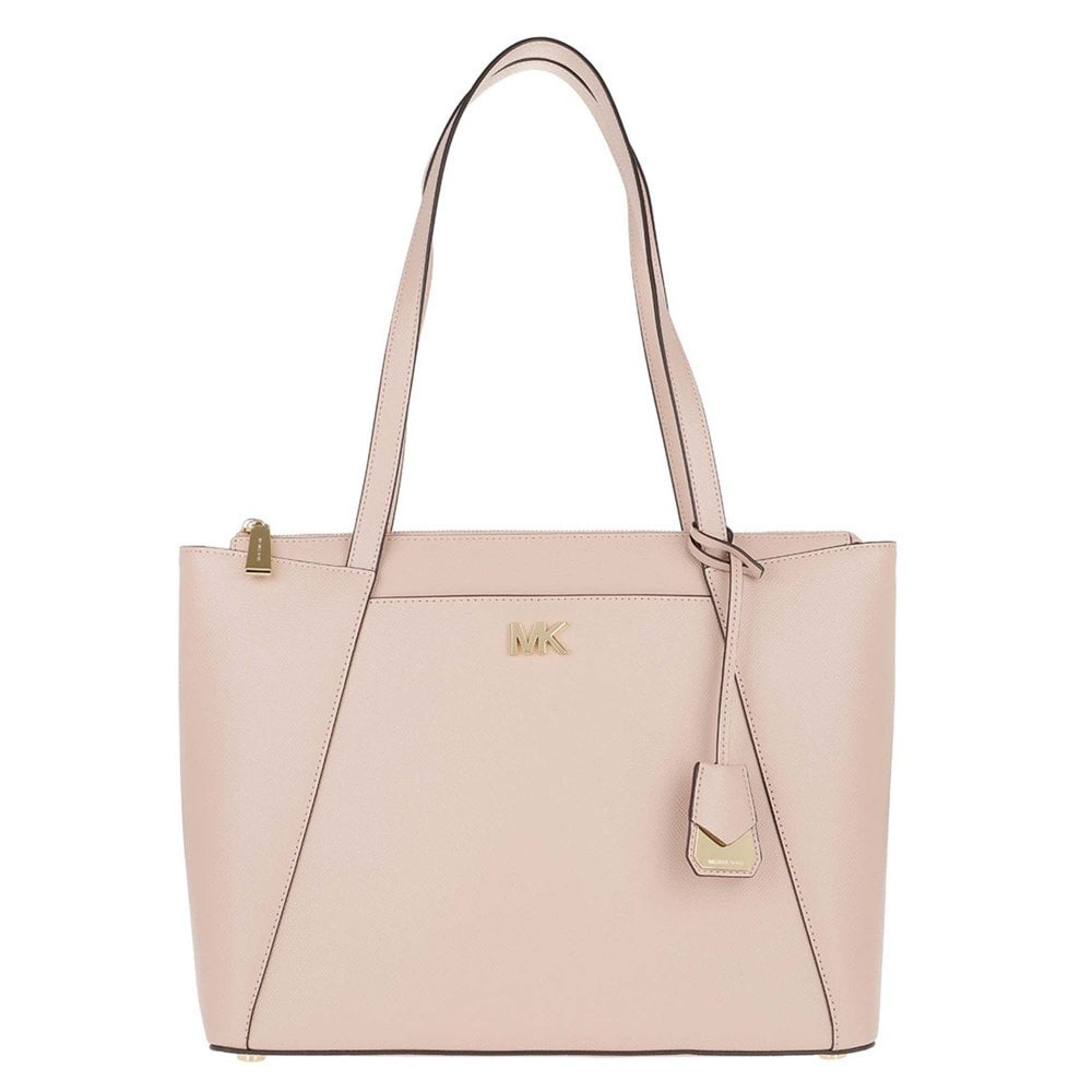 9a381a3de91a MICHAEL by Michael Kors Maddie Soft Pink Leather Medium Tote