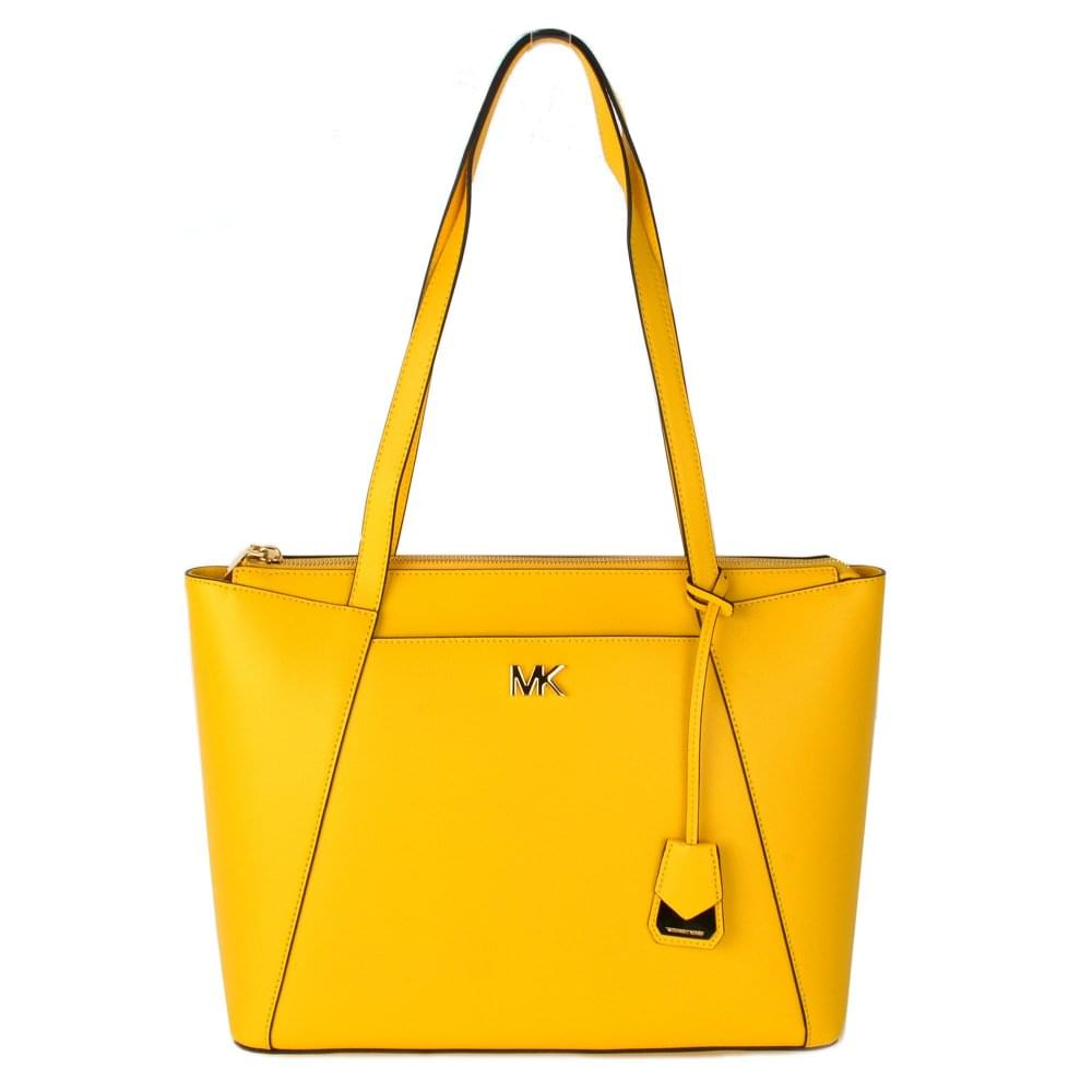 74272c5c943d MICHAEL by Michael Kors Maddie Sunflower Leather Medium Tote
