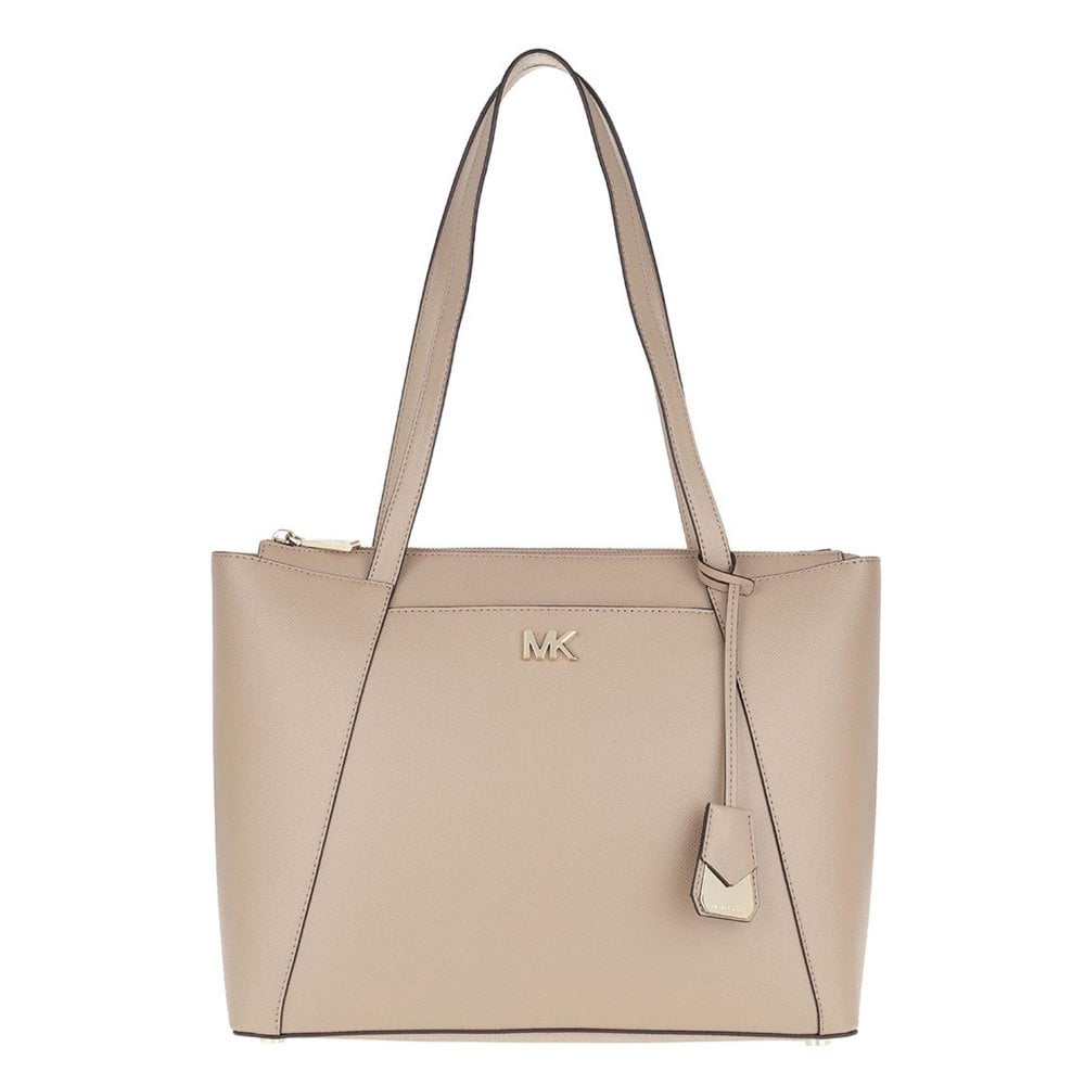 a480b3149962 MICHAEL by Michael Kors Maddie Truffle Leather Medium Tote