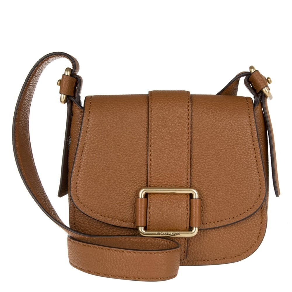Maxine Tan Leather Medium Saddle Bag