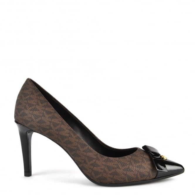 MICHAEL by Michael Kors Mellie Black and Brown Heeled Pump