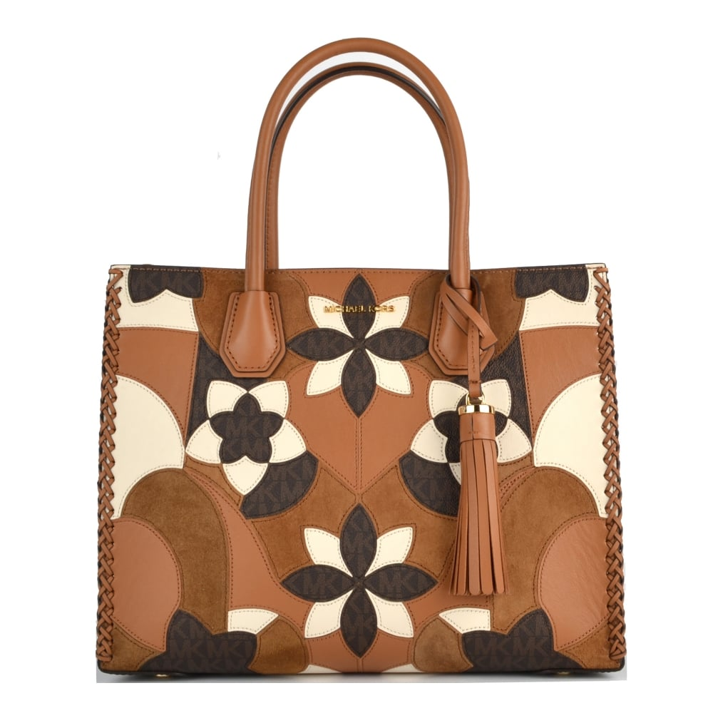f5385ad273c3 MICHAEL by Michael Kors Mercer Acorn Floral Patchwork Large Tote