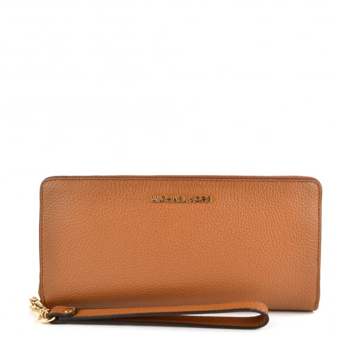 MICHAEL by Michael Kors Mercer Acorn Leather Continental Wristlet