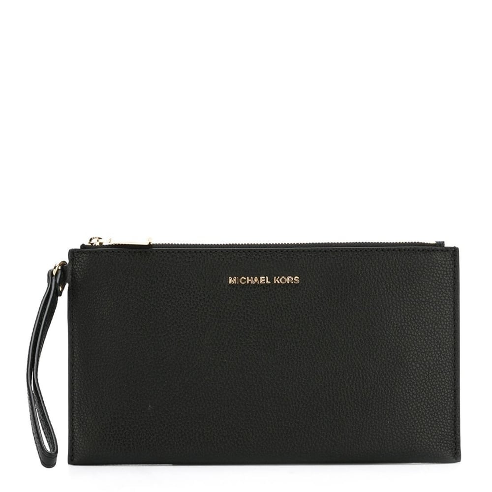 cea8ad5378c MICHAEL by Michael Kors Mercer Black Large Zip Clutch