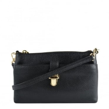 Mercer Black Medium Snap Pocket Crossbody