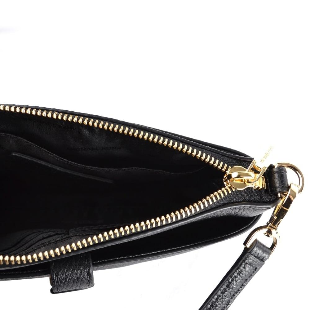 1244334a6d58 MICHAEL MICHAEL KORS Mercer Black Medium Snap Pocket Crossbody Bag