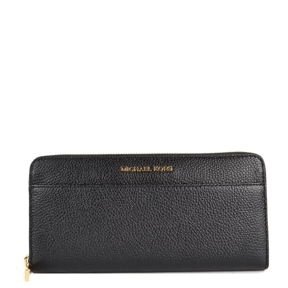 a85d8bf7af877b MICHAEL MICHAEL KORS Mercer Black Continental Zip Around Wallet