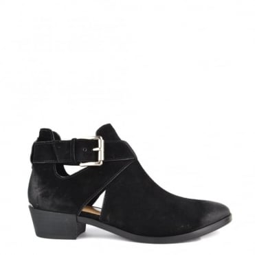 Mercer Black Suede Cut Out Boot