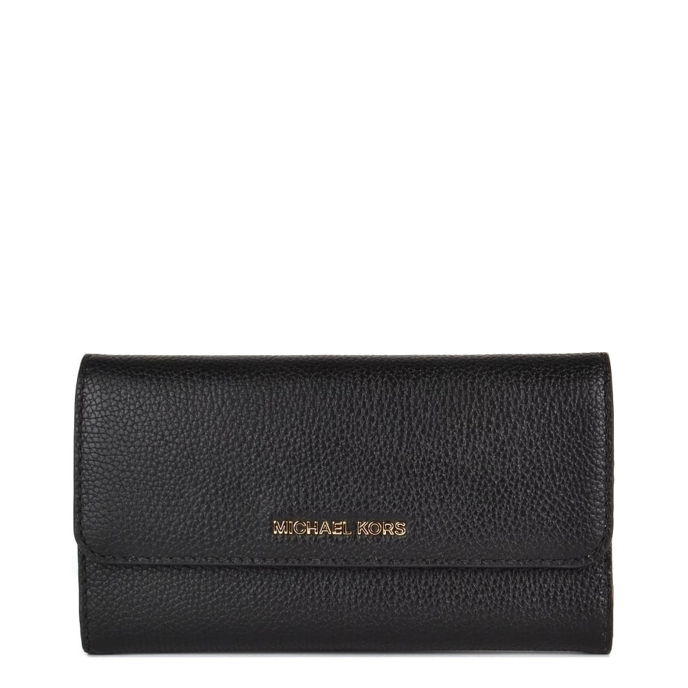 b9da2fc85247 MICHAEL by Michael Kors Mercer Large Black Trifold Wallet
