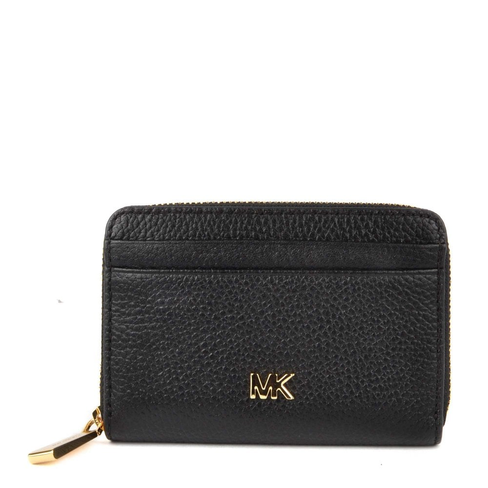 1a9945760f14e8 MICHAEL by Michael Kors Mercer Black Zip Around Coin Card Case