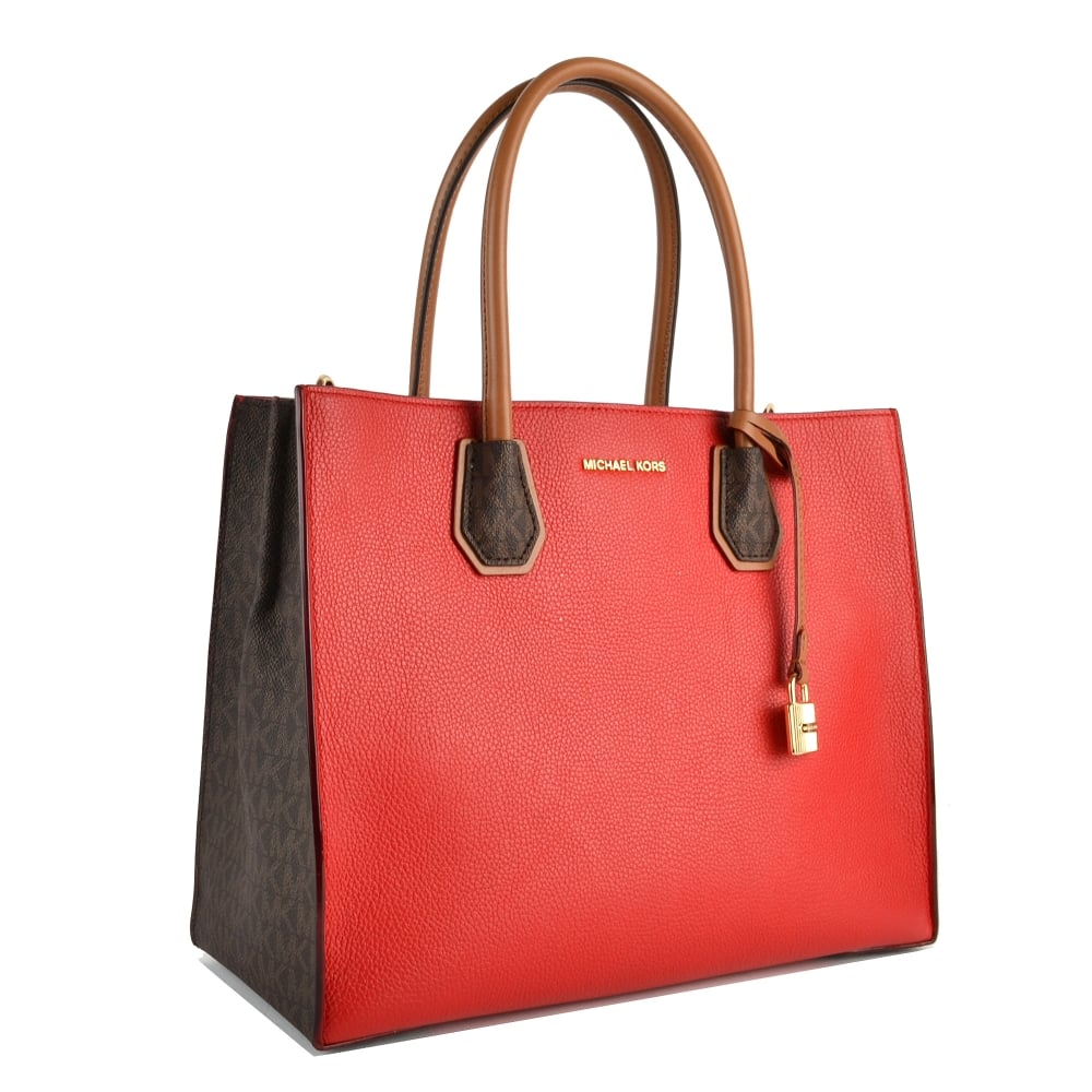Mercer Bright Red Large Convertible Tote