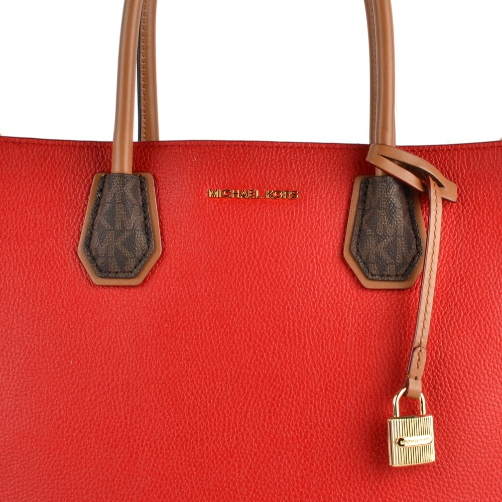 aeb6faf5e82b32 MICHAEL by Michael Kors Mercer Bright Red Large Convertible Tote