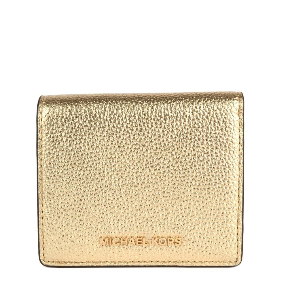 b90343c0fc98 MICHAEL by Michael Kors Mercer Carryal Pale Gold Card Case
