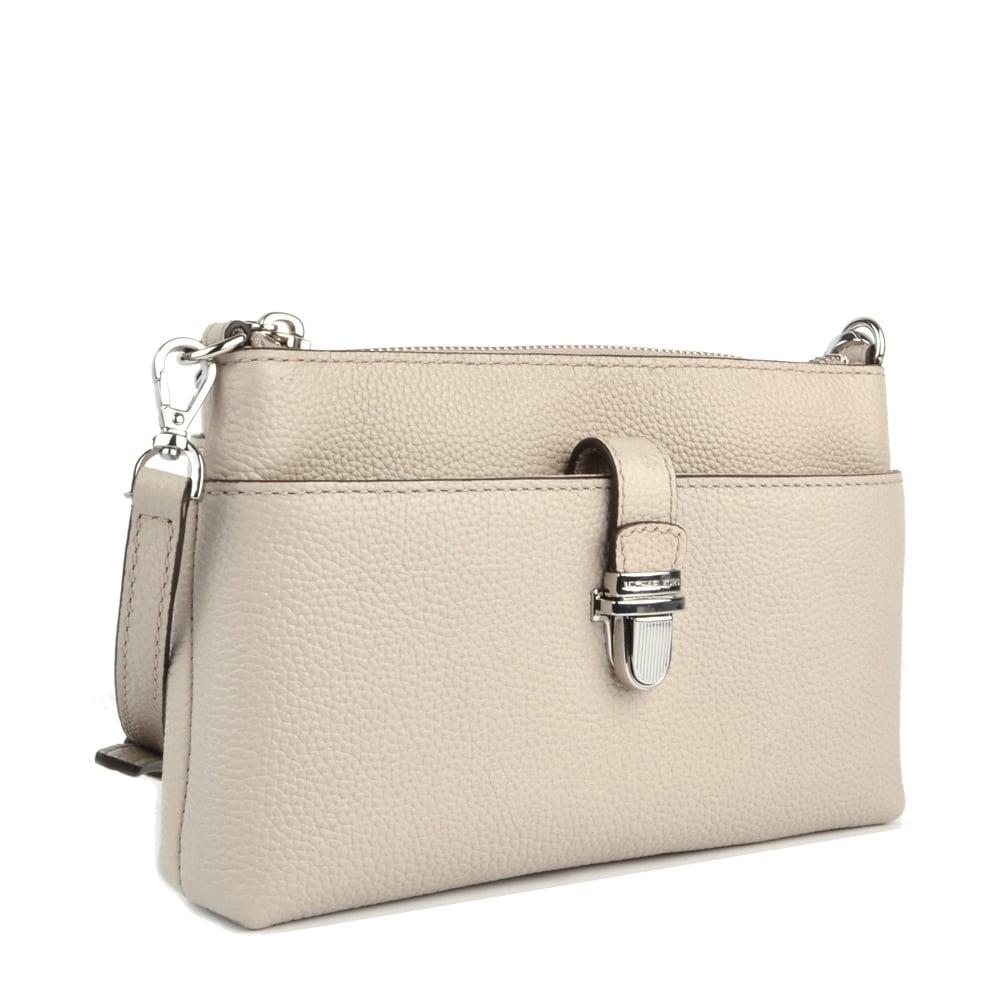2e1c16673109 MICHAEL MICHAEL KORS Mercer Cement Medium Snap Pocket Crossbody Bag