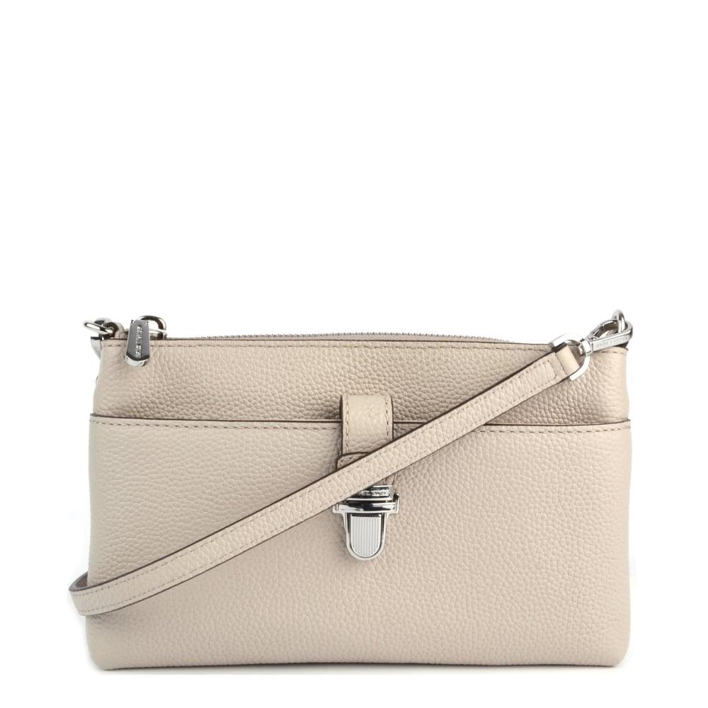 a663e518af54 MICHAEL by Michael Kors Mercer Cement Medium Snap Pocket Crossbody Bag