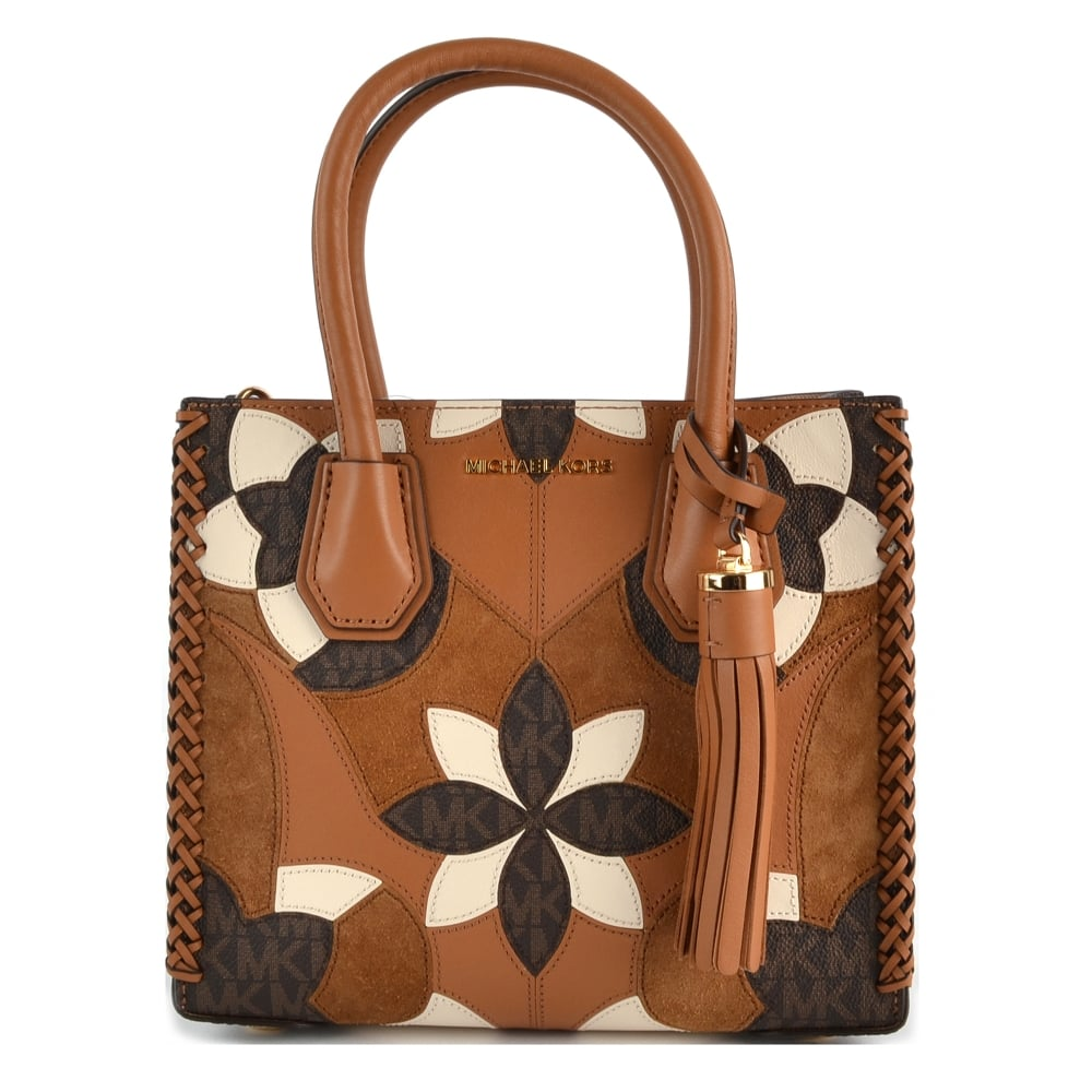 688077e9ce470 MICHAEL by Michael Kors Mercer Floral Patchwork Medium Messenger Bag