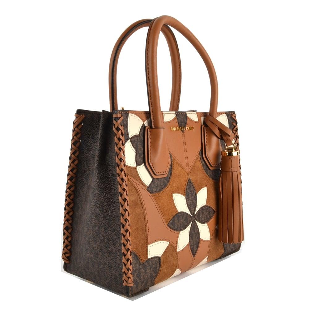 d95d3f218980a MICHAEL by Michael Kors Mercer Floral Patchwork Medium Messenger Bag