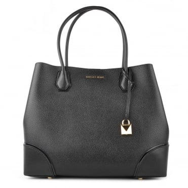 Mercer Gallery Black Large Leather Tote
