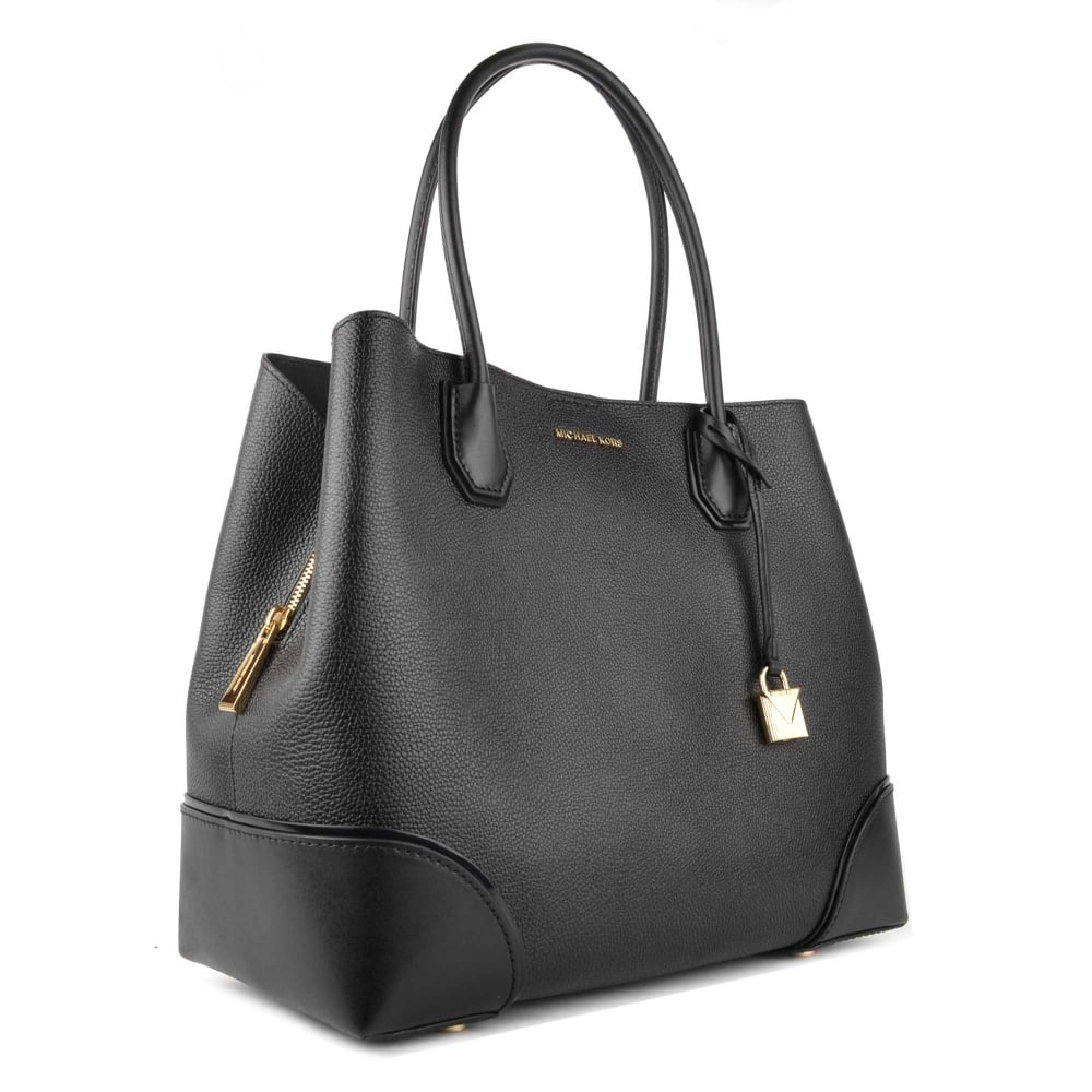 Michael Kors Black Mercer Gallery Large Leather Tote