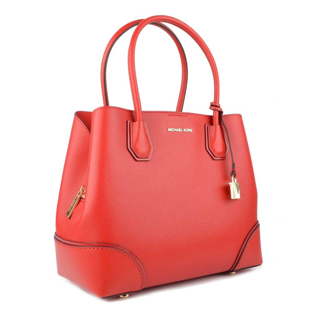 6f7861dbadcd MICHAEL by Michael Kors Mercer Gallery Bright Red Medium Tote Bag