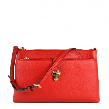 Mercer Large Bright Red Pocket Crossbody Bag