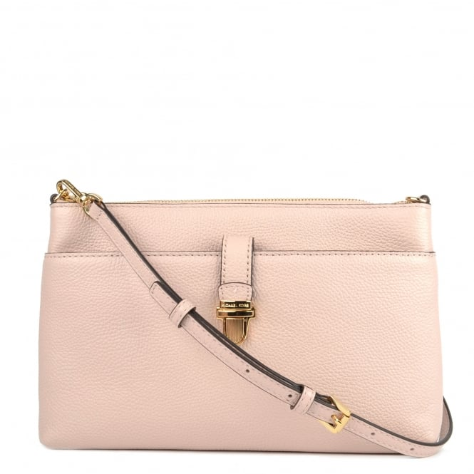MICHAEL by Michael Kors Mercer Large Soft Pink Pocket Crossbody Bag
