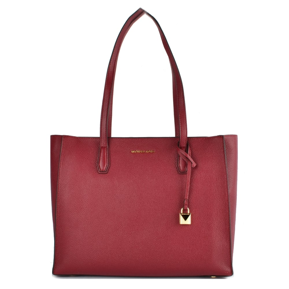 d5f78f5bb2c7 MICHAEL by Michael Kors Mercer Mulberry Leather Large Tote