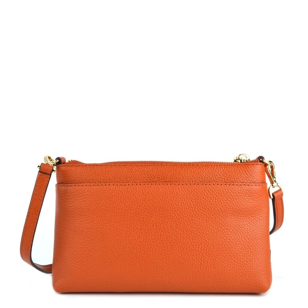 a413d2c70ebce MICHAEL by Michael Kors Mercer Orange Medium Snap Pocket Crossbody Bag