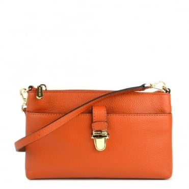 Mercer Orange Medium Snap Pocket Crossbody Bag