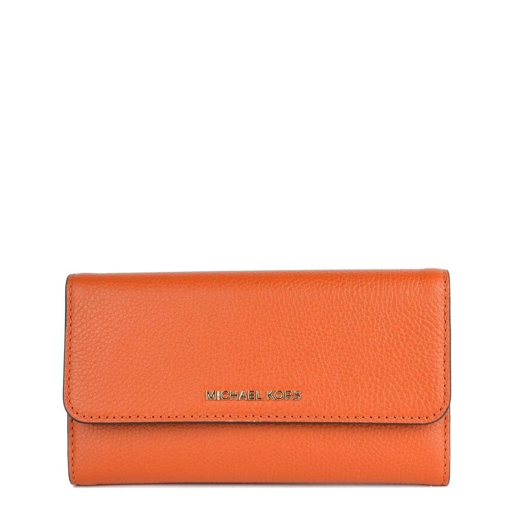 0a5d408c9c2f6 MICHAEL by Michael Kors Mercer Orange Trifold Wallet