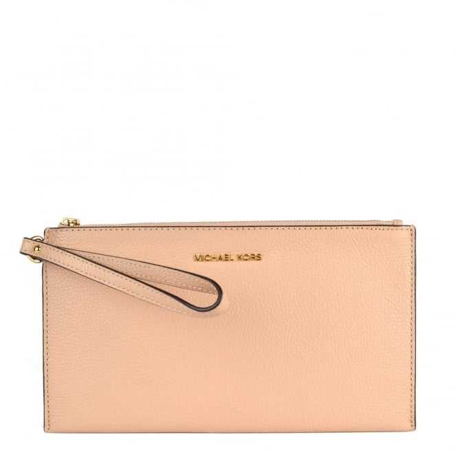 MICHAEL by Michael Kors Mercer Oyster Large Zip Clutch