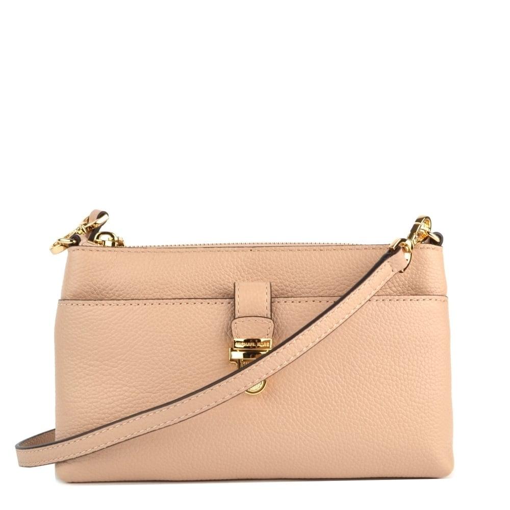 bfea40dd07c1f3 ... Black Michael Kors Tan Leather Bedford Crossbody Bag Mercer Oyster  Medium Snap Pocket Crossbody Bag ...