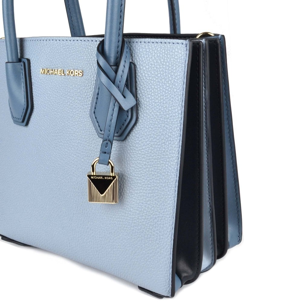 1a076b4d95c07b MICHAEL MICHAEL KORS Mercer Pale Blue Leather Accordion Messenger Bag