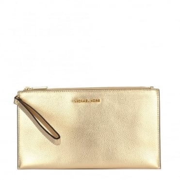 Mercer Pale Gold Large Zip Clutch