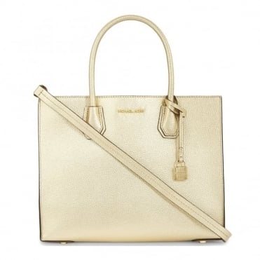 Mercer Pale Gold Leather Large Tote