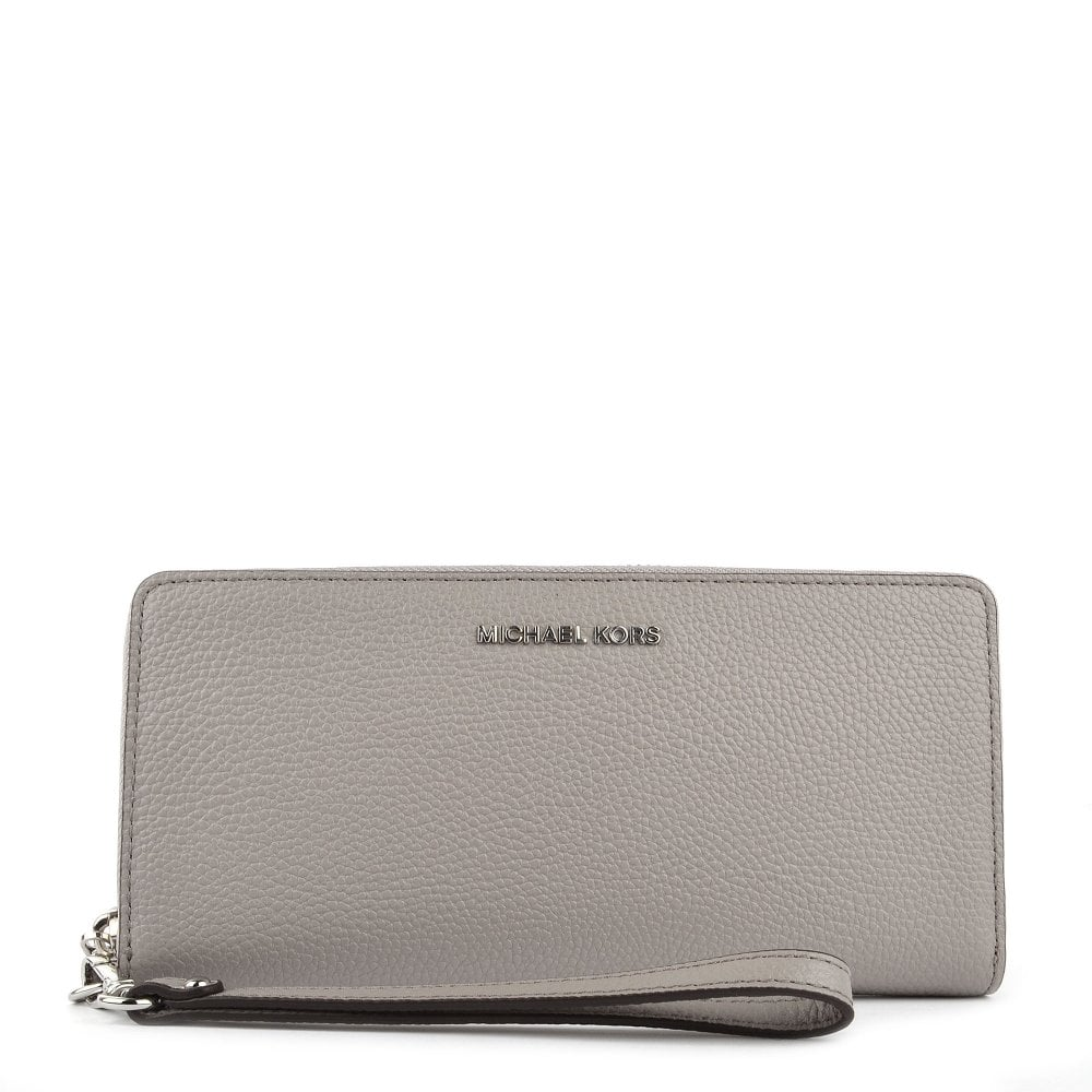 2693deb9acdca4 MICHAEL by Michael Kors Mercer Pearl Grey Leather Continental Wristlet