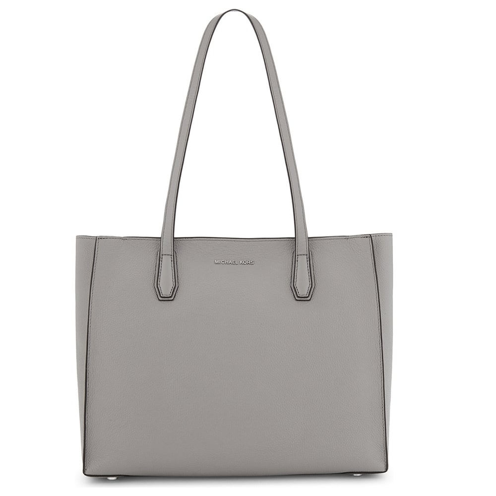 639d5b304c66 MICHAEL by Michael Kors Mercer Pearl Grey Leather Large Tote
