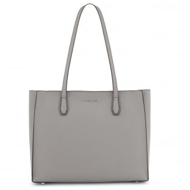 Mercer Pearl Grey Leather Large Tote
