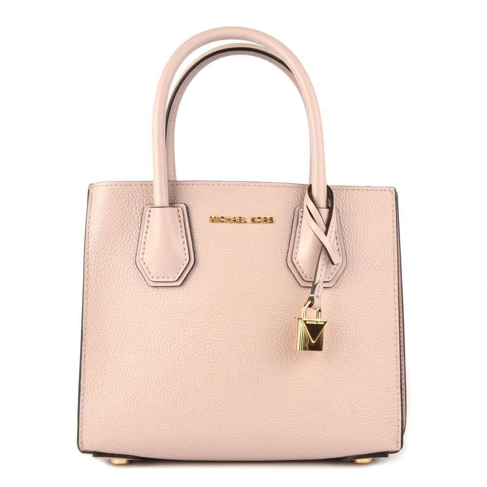 a911c5d9cad4 MICHAEL by Michael Kors Mercer Soft Pink Leather Accordion Messenger Bag