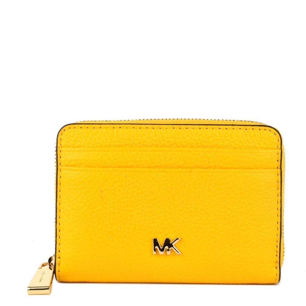362c46a8 MICHAEL by Michael Kors Mercer Sunflower Zip Around Coin Card Case