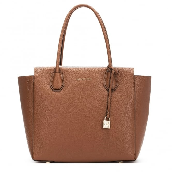 MICHAEL by Michael Kors Mercer Tan Leather Large Satchel