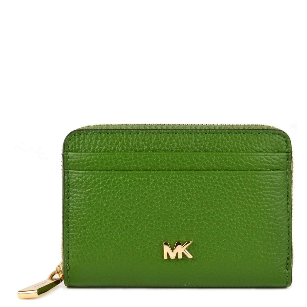 f027e75b70ac MICHAEL by Michael Kors Mercer True Green Zip Around Coin Card Case