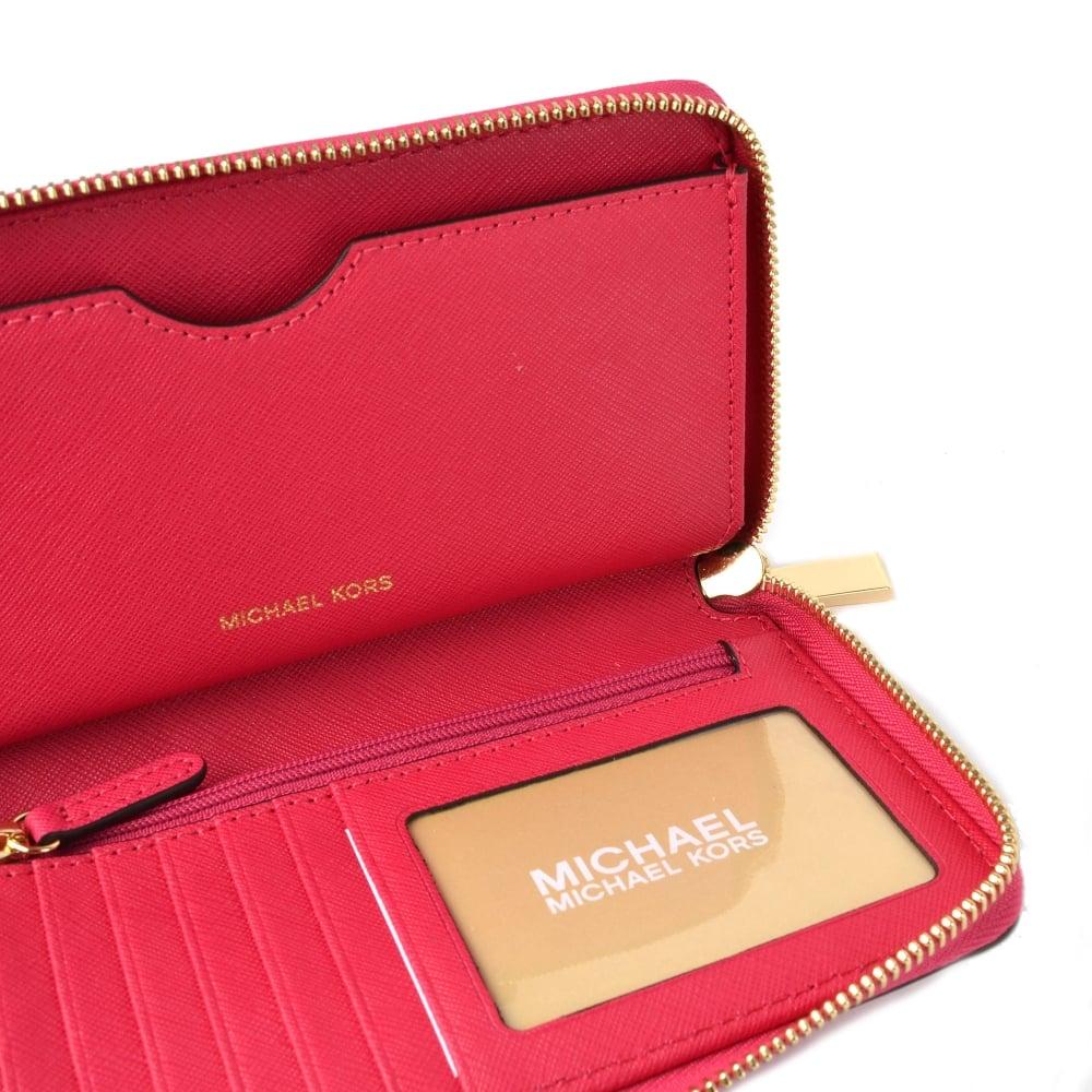 4f229d09cccbd5 MICHAEL MICHAEL KORS Mercer Ultra Pink Large Multifunctional Phone Case